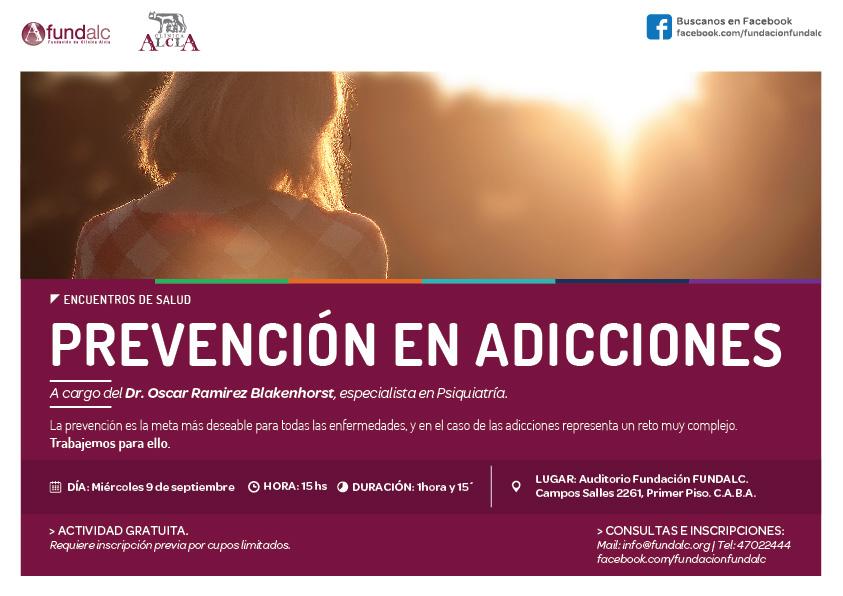 """Encuentros de Salud: """"Prevención en Adicciones"""""""